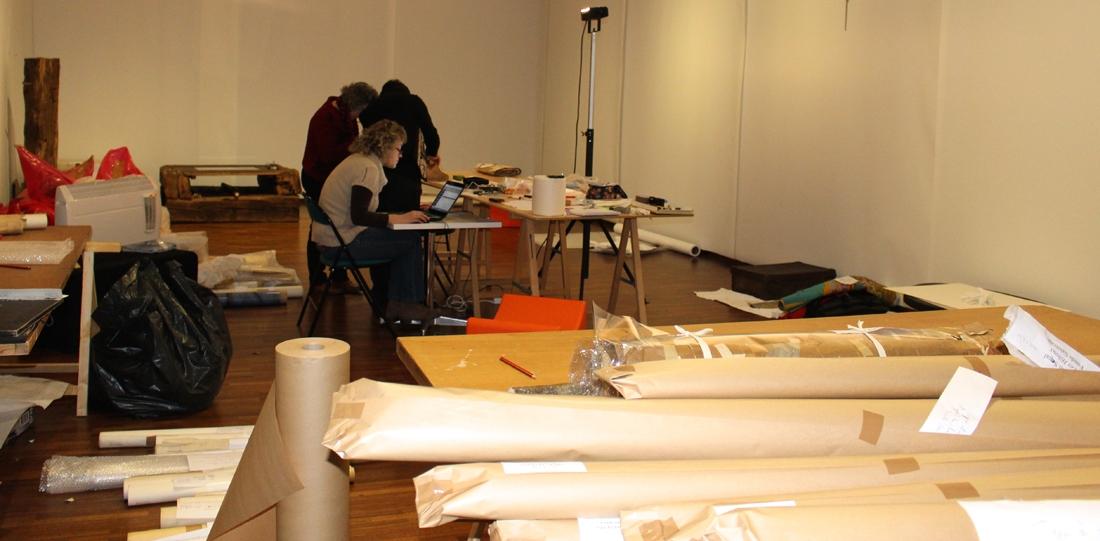 Le chantier des collections de l'École Nationale d'Arts Décoratifs d'Aubusson, déposées à la cité internationale de la tapisserie