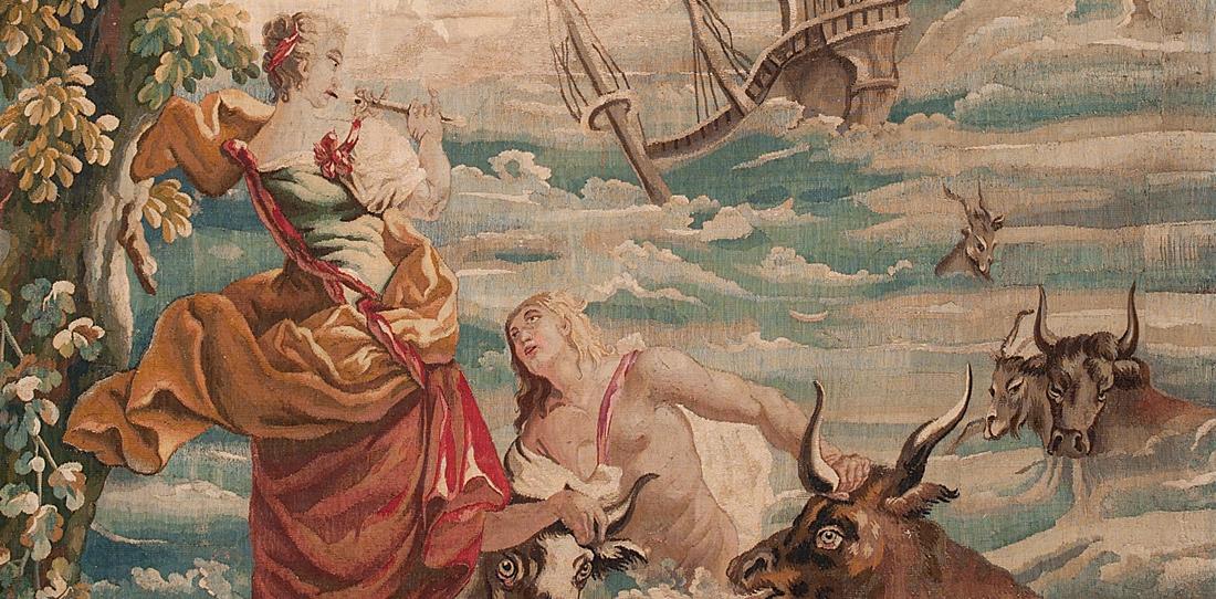 Chloé sauvant Daphnis au son de sa flûte (détail)