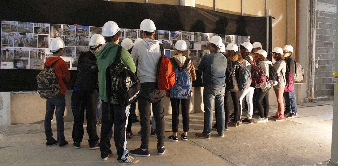 Le chantier de la CIté de la tapisserie ouvert aux scolaires pour Les Coulisses du bâtiment 2015
