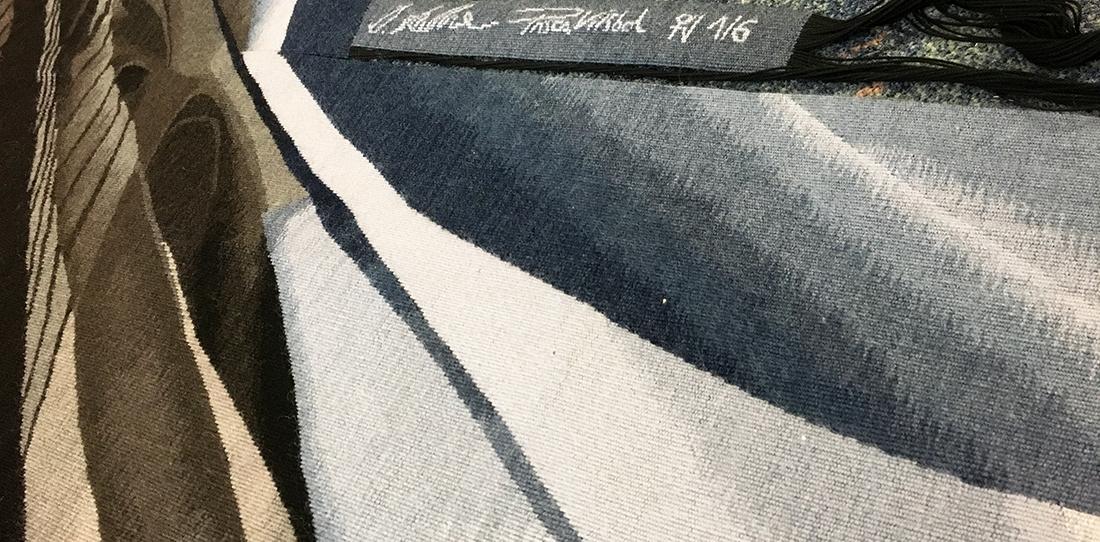 Libramen Forma, Kestner & Vilsbol, détail du tissage, Atelier Françoise Vernaudon