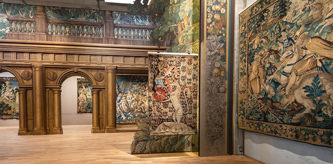 Parcours d'exposition de la Cité internationale de la tapisserie, musée innovant