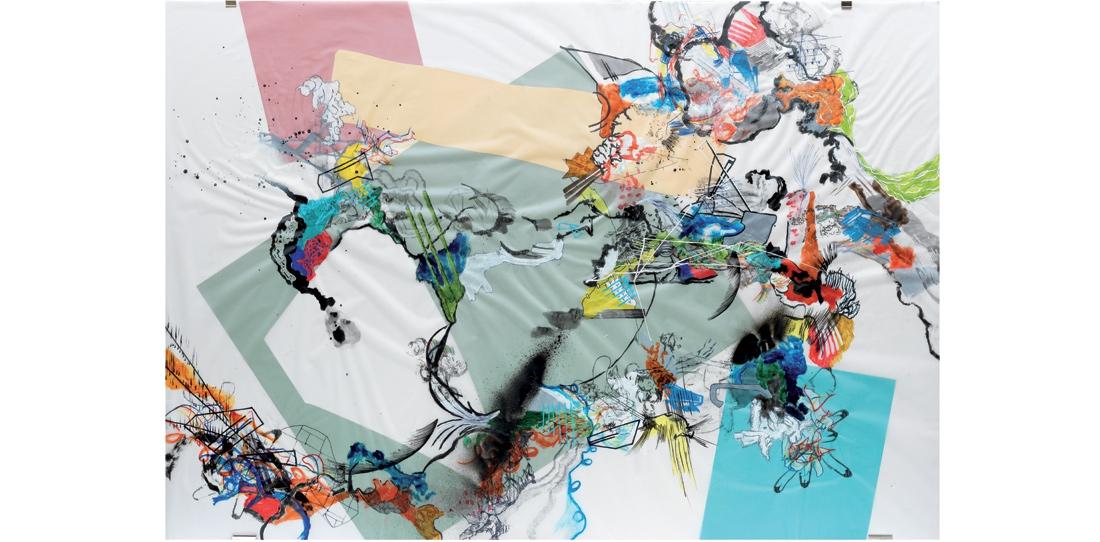 Blink # 0, 3/3, Benjamin Hochart, deuxième prix 2010, huile sur calque