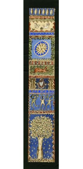 Bordure des bois, de Diane de Bournazel, Troisième Prix 2013 de la Cité internationale de la tapisserie. Maquette de tapisserie, dessin au trait, encre, peinture et collage sur papier.