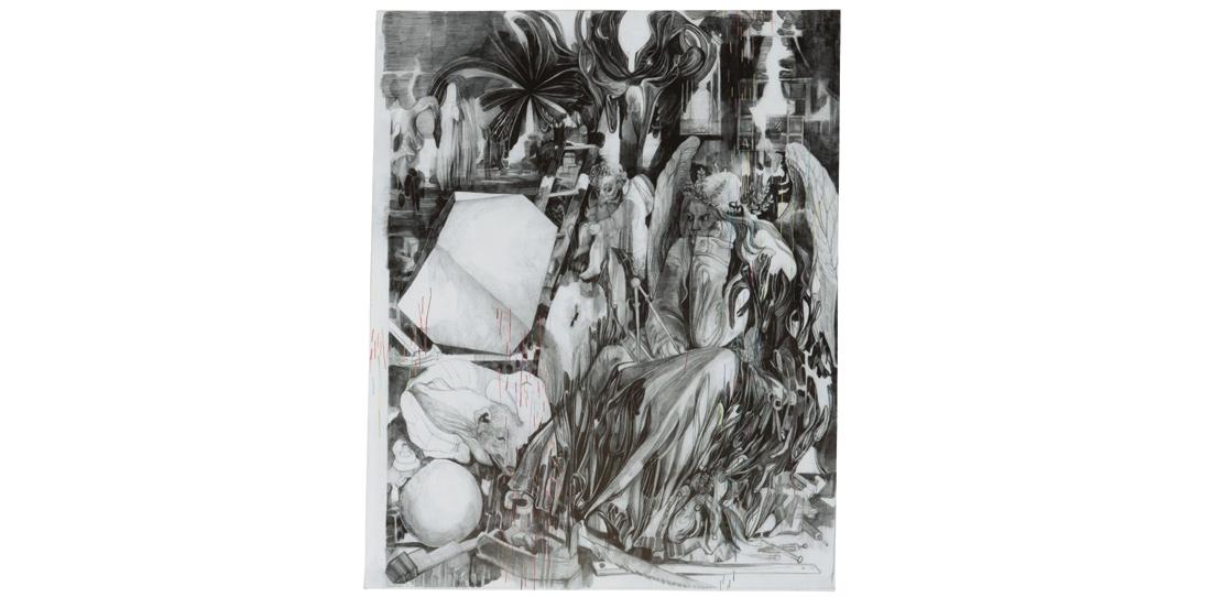 Melancholia, de Marc Bauer, deuxième prix 2011, maquette de tapisserie