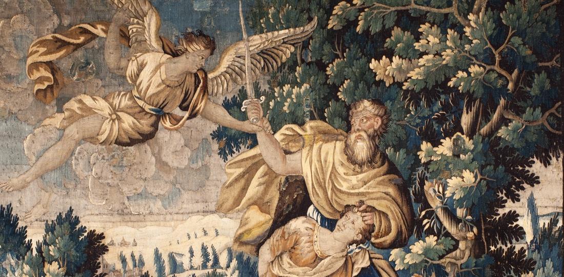 Abraham's sacrifice (detail), Aubusson's workshops, XVIIth century