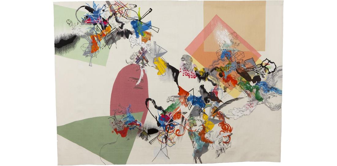 Blink # 0, Benjamin Hochart, 2e prix 2010, première pièce du triptyque, tissage Ateliers Pinton, 2011