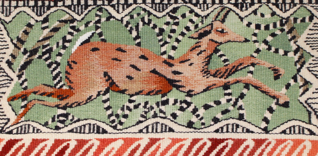 Bordure des bois (detail), Diane de Bournazel, Third Prize 2013, woven by A2 workshop, 2014