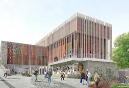 Esquisse de la future Cité internationale de la tapisserie, Agence Terreneuve