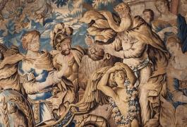 Ulysse quitte Eole (détail), d'après Isaac Moillon, Ateliers d'Aubusson, XVIIe siècle