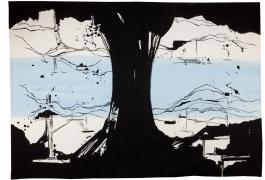 La Rivière au bord de l'eau, Olivier Nottellet, troisième prix 2010, tissage atelier Bernard Battu, 2011