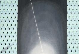 Tapis M (détail), d'après Sylvain Dubuisson, tissage Ateliers Pinton, 1992