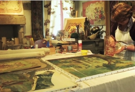 The memory of the cartoon-painters in Aubusson, Creuse