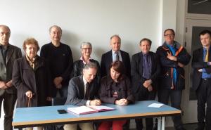 La Cité de la tapisserie signe une convention avec la pépinière 2Cube