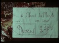 Documentaire monographique consacré à Jean Lurçat et son projet iconographique. Réal. P. Biro et V. Mercanton, 1965, 17 min.