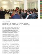 Les élèves de quatre lycées présentent leurs travaux à la Cité de la tapisserie - communiqué
