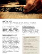 Ouverture d'un Brevet des Métiers d'Arts à la rentrée 2016